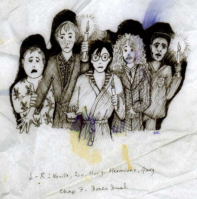 J.K. Rowling's illustration - published in her website in 2004