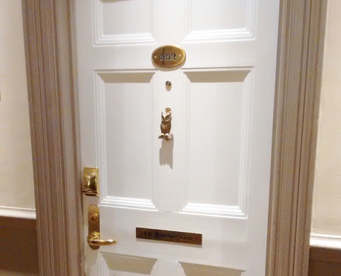 The J.K. Rowling Suite door
