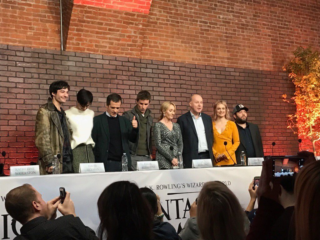 J.K. Rowling, cast and crew at the Press Conference