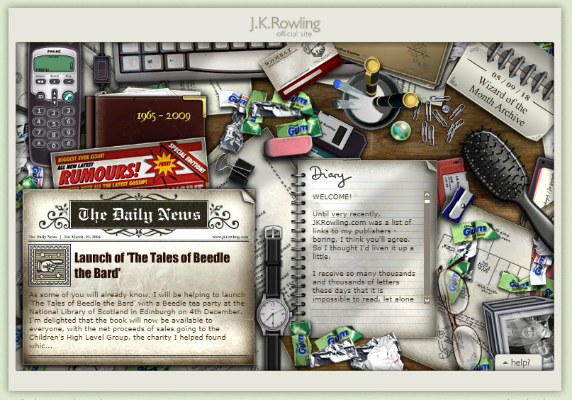 J.K. Rowling official website - 2009