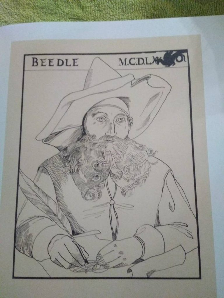 Beedle portrait for American Edition of The Tales of Beedle the Bard (Illustrated)