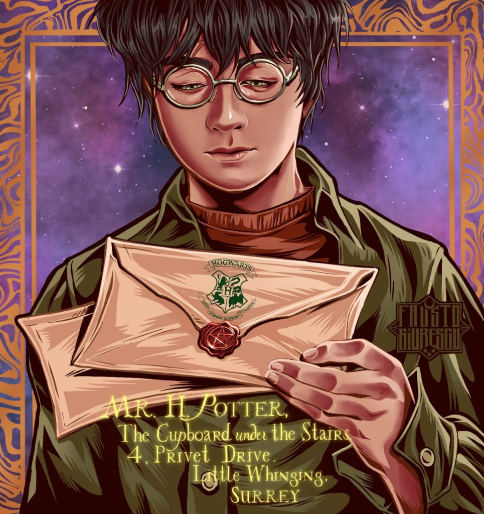 Harry Potter Letter - Illustration by Fausto Giurescu