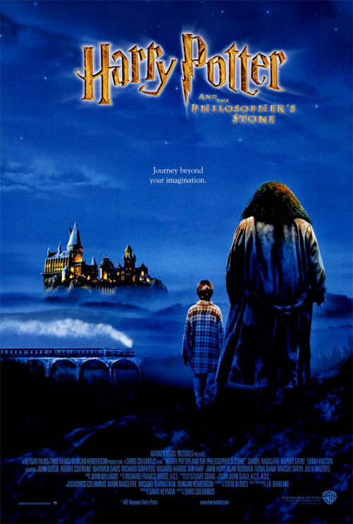 Final poster used for the Harry Potter and the Philosopher's Stone film.