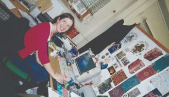 Ruth Winick working on the Harry Potter films
