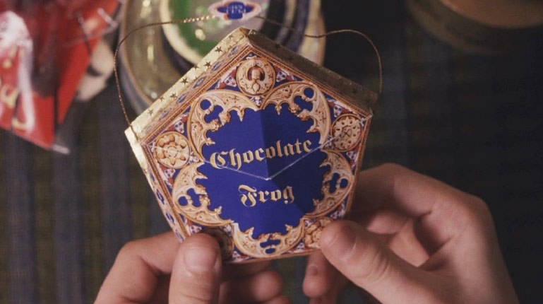 Ruth's design for the Chocolate Frog Package, as seen in Harry Potter and the Philosopher's Stone (2001)