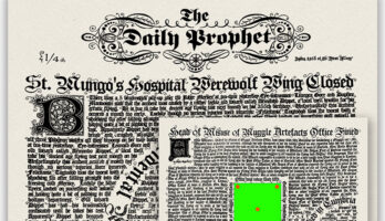 The Daily Prophet - Harry Potter and the Philosopher's Stone