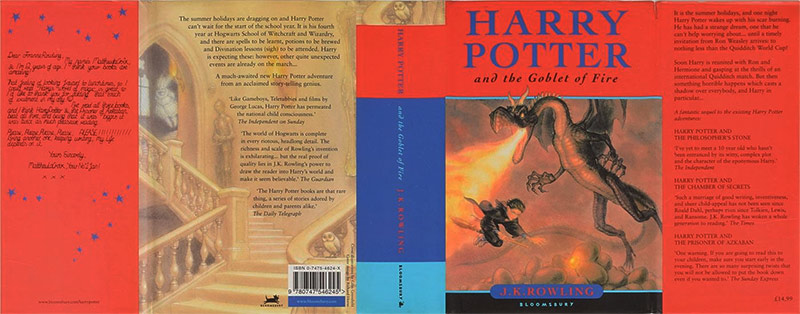 Harry Potter and the Goblet of Fire dustjacket, designed by Richard Horne