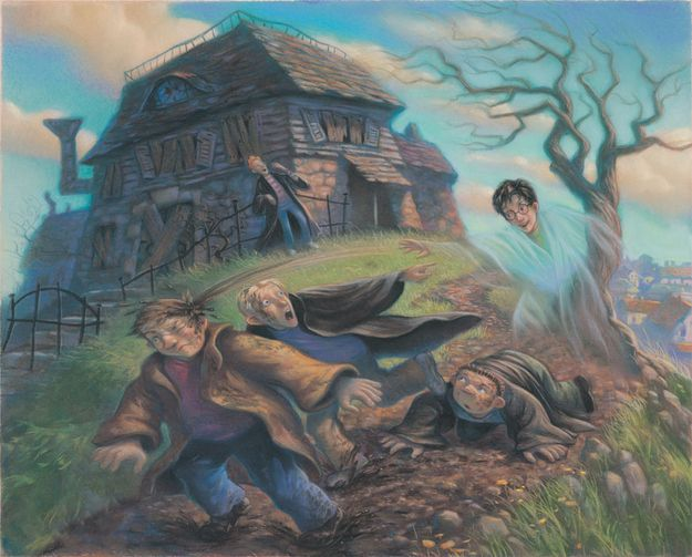 The Cloak of Invisibility - Illustration by Mary GrandPré